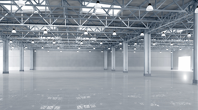 仓库,新的,巨大的,建筑业,空的,室内,都市风景,飞机库,水平画幅,器材箱