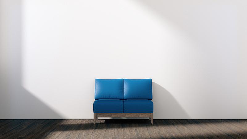 沙发,白色,交通工具内部,空的,绿松石,蓝色,办公室,太空,住宅房间,水平画幅