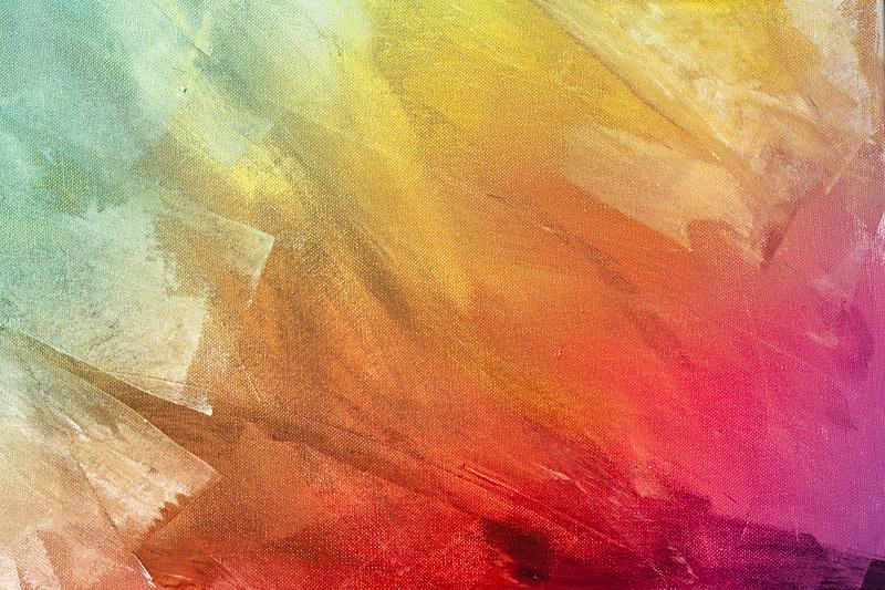 彩虹,涂料,纹理效果,背景,曝光过度,画布,帆布,笔触,明亮