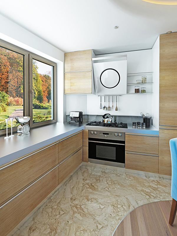 现代,庸俗,风格,厨房,饭厅,垂直画幅,无人,灯,家具,居住区
