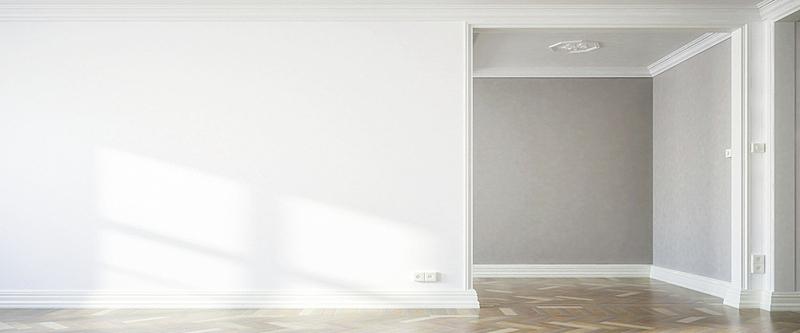 全景,室内,日光,白色,墙,三维图形,空的,华贵,地板,现代