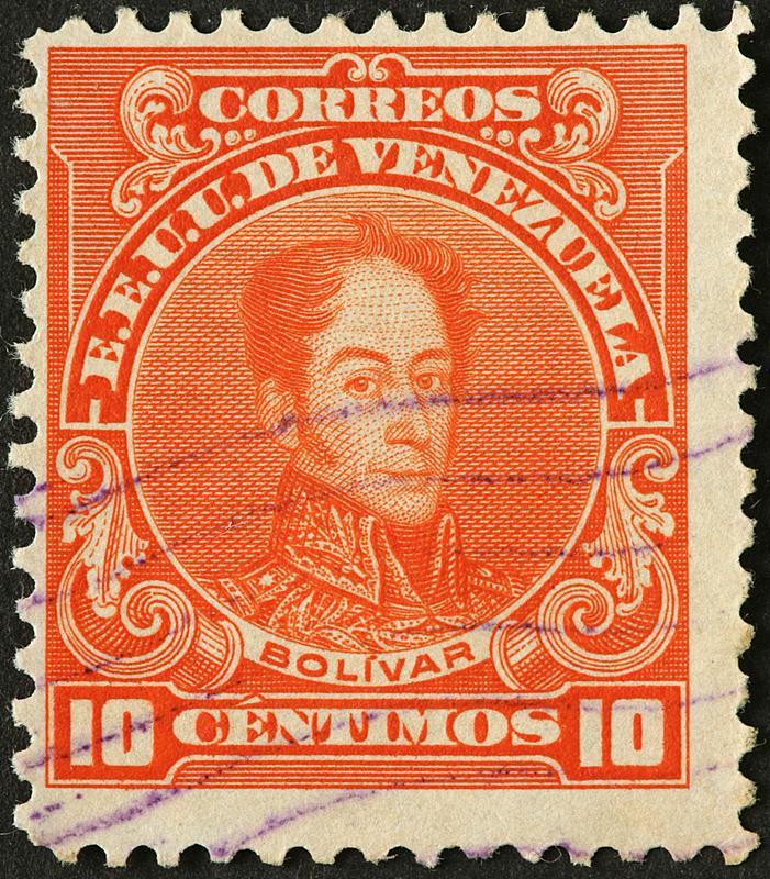 委内瑞拉,古典式,平衡折角灯,西蒙玻利瓦尔,垂直画幅,人,图像,摄影