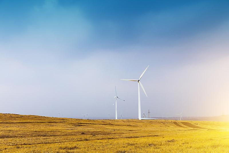 风轮机,电缆,天空,水平画幅,风力,能源,无人,埃及,涡轮,干的