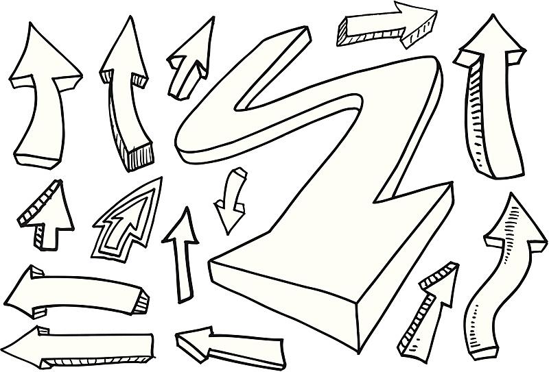 乱画,箭头符号,无人,组物体,方向,矢量,摄影,瞄准