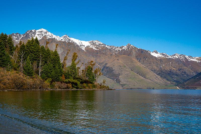 雪山,湖,河流,山脉,新西兰,国内著名景点,云,雪,著名景点,自然美
