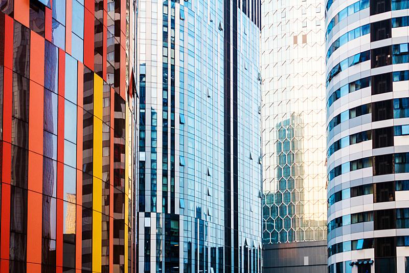 建筑,办公室,极简构图,满画幅,建筑外部,未来,抽象,现代,天空,水平画幅