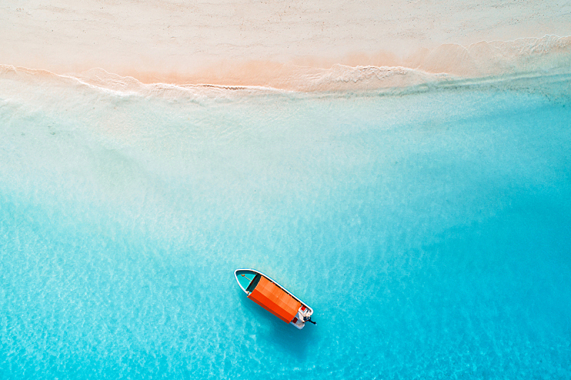 船,无人机,夏天,晴朗,沙子,在上面,桑吉巴尔,非洲,透明,渔船