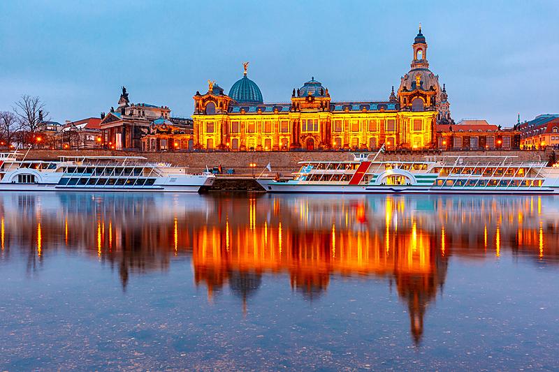 古城,德国,德累斯顿,厄尔巴岛,室内过夜,美,萨克森,水平画幅,夜晚,美人
