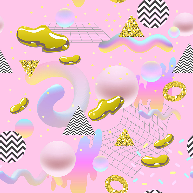未来,形状,绘画插图,四方连续纹样,矢量,黄金,抽象,液体,背景