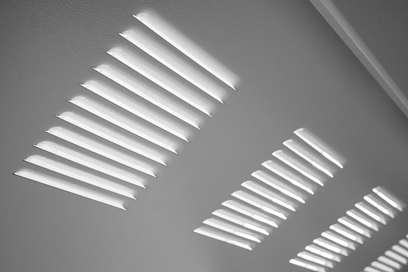 墙,金属,工业,白色,风管,新的,风,水平画幅,无人,格子