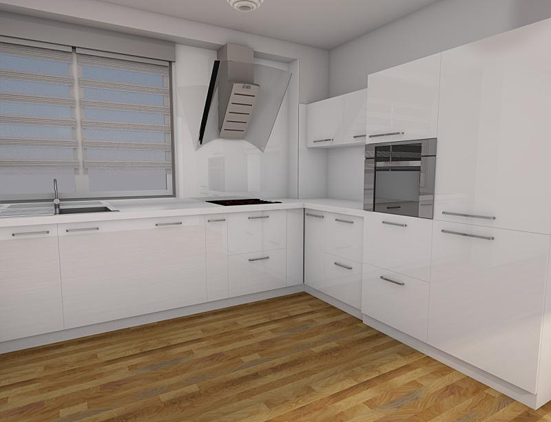 三维图形,厨房,小的,白色,水平画幅,纹理效果,形状,墙,无人,家具