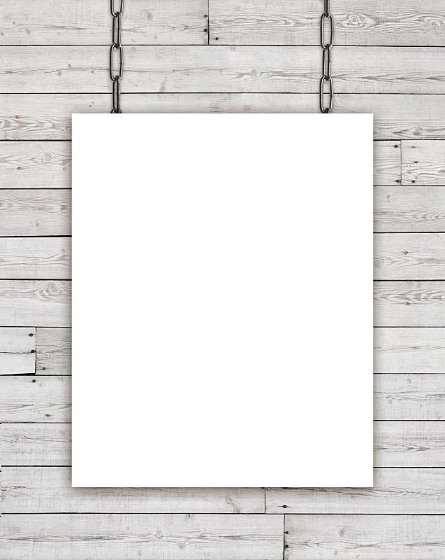 链,木制,长方形,白色,空白的,无人,留白,墙,垂直画幅