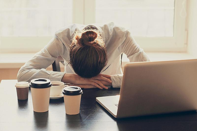 疲劳的,女人,办公室,税,经理,仅成年人,想法,税表,过度劳累,债务