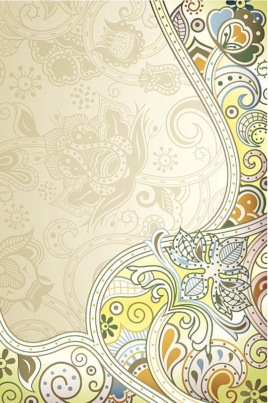 抽象,背景,绘画插图,时尚,东亚人,亚洲,漩涡形,叶子,高雅,花瓣