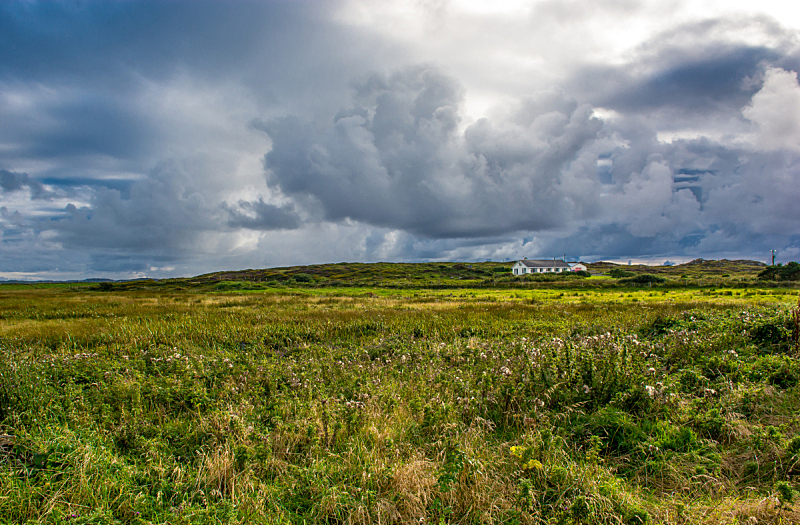 房屋,北爱尔兰,康尼马拉,美,水平画幅,无人,偏远的,户外,云景,戈耳韦