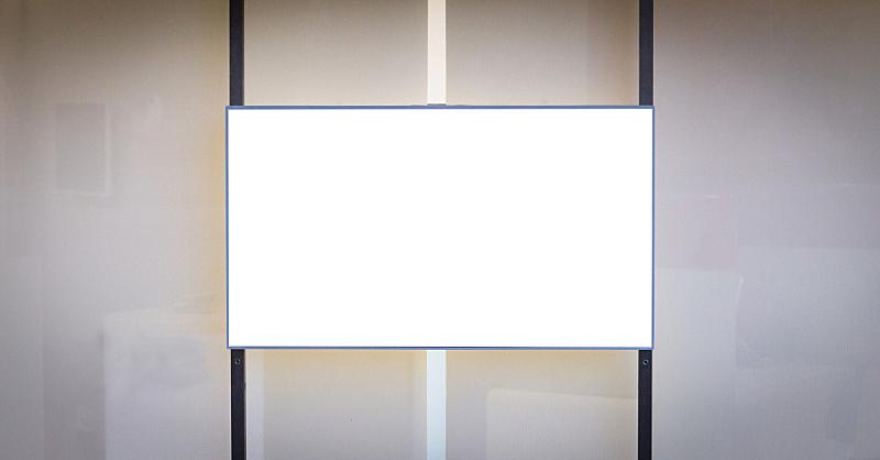 水平画幅,液晶显示,地下的,传媒,商务,空的,边框,模板,现代
