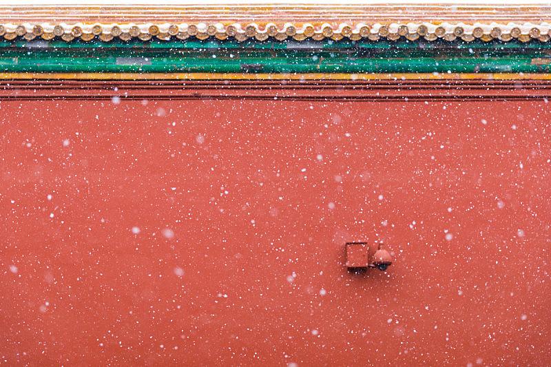 红色,雪花,围墙,背景,空白的,故宫,高雅,过时的,华丽的,纹理效果
