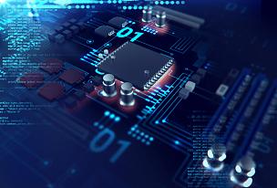 未来,电路板,蓝色,三维图形,电脑芯片,母板,式样,水平画幅,无人,抽象