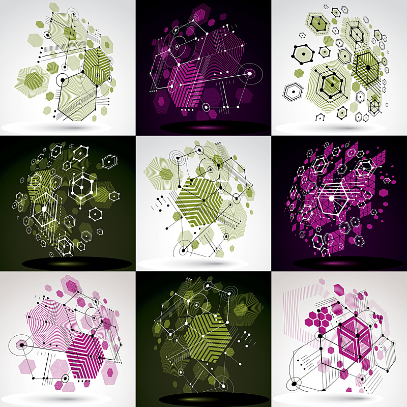包豪斯,艺术,绘画插图,格子,几何形状,矢量,式样,六边形,壁纸,背景