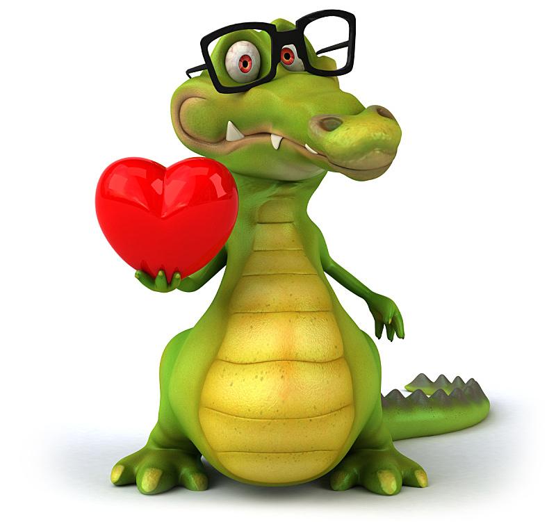 鳄鱼,短吻鳄属,水平画幅,形状,绿色,绘画插图,性格,白色背景,背景分离,卡通