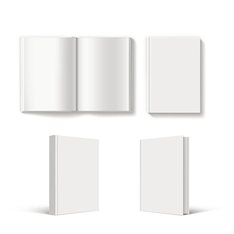 模板,空白的,书,平装书,精装书,出版商,日记,笔记本,开着的