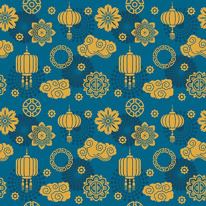 丝绸,四方连续纹样,纺织品,矢量,日本,符号,永远,缎子,档案,有包装的