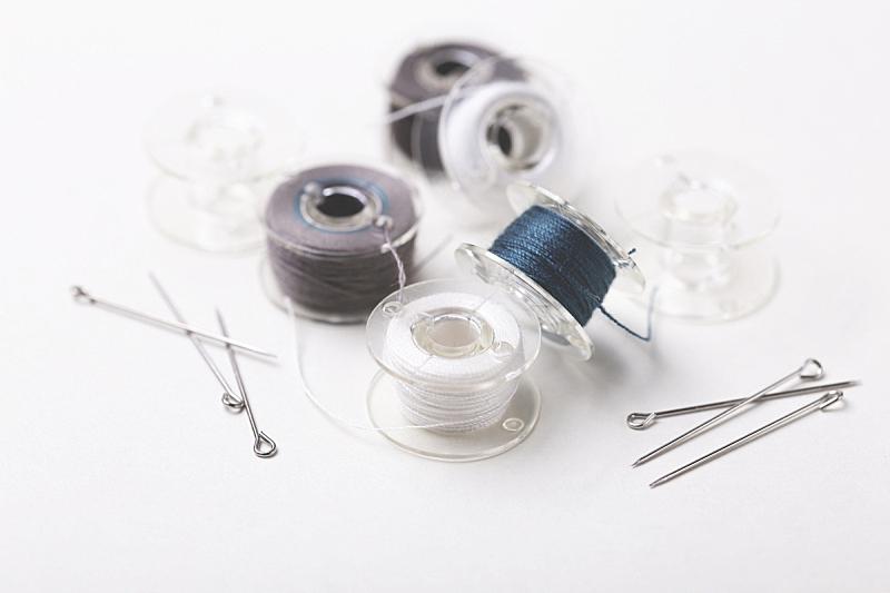 线,线轴,塑胶,珠针,彩色图片,个人随身用品,水平画幅,纺织品,线绳,特写