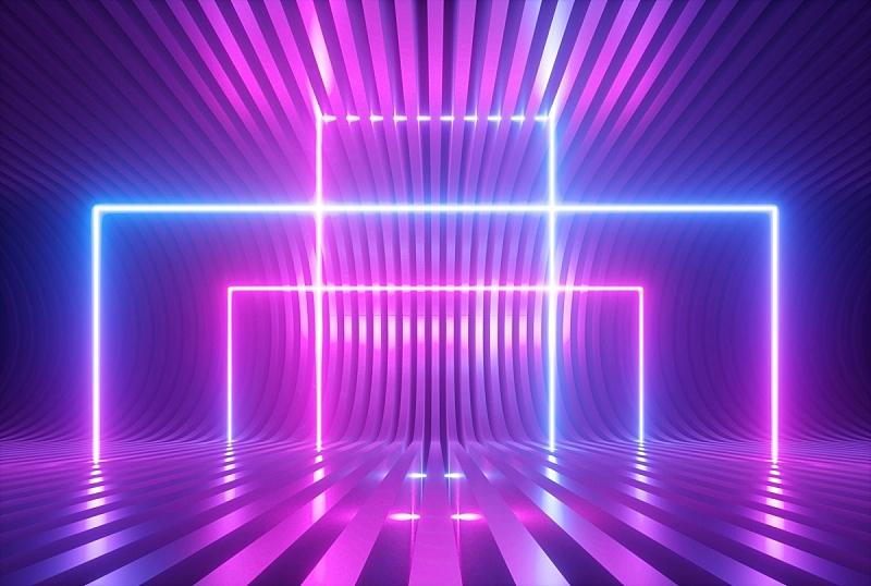 三维图形,形状,紫外线,大门,背景,舞台,霓虹灯,激光,蓝色,抽象