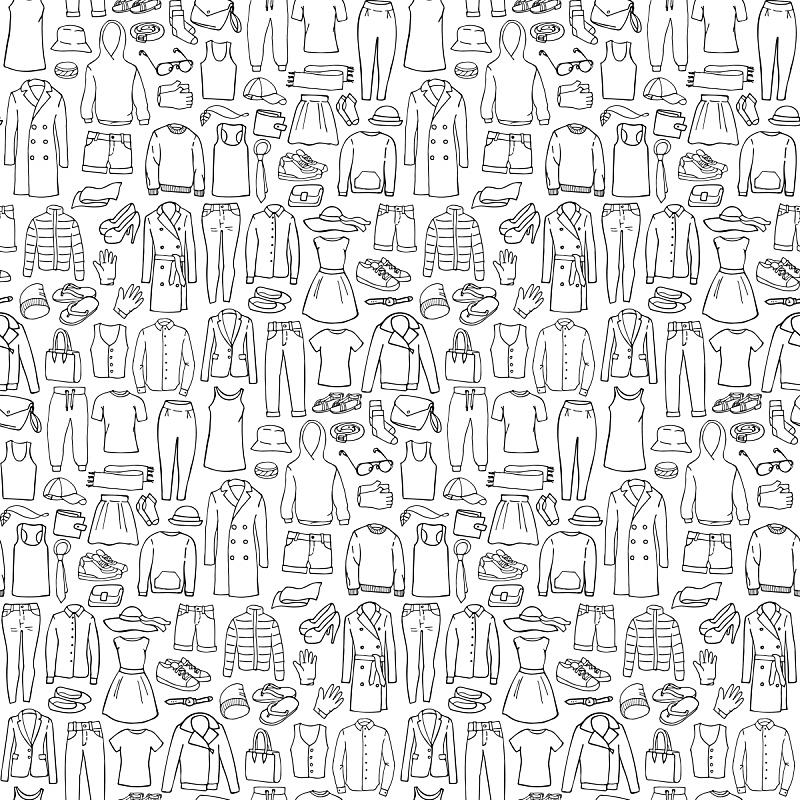 乱画,女人,男人,服装店,四方连续纹样,外衣,衣服,连衣裙,个人随身用品,时尚