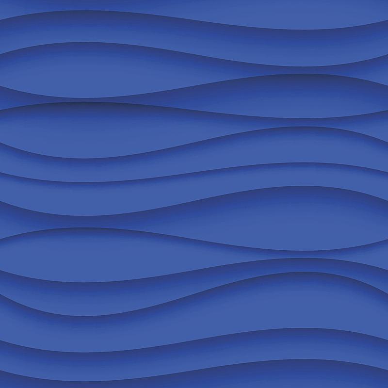 纹理效果,形状,蓝色,背景,波形,水,纺织品,无人,绘画插图,弯曲