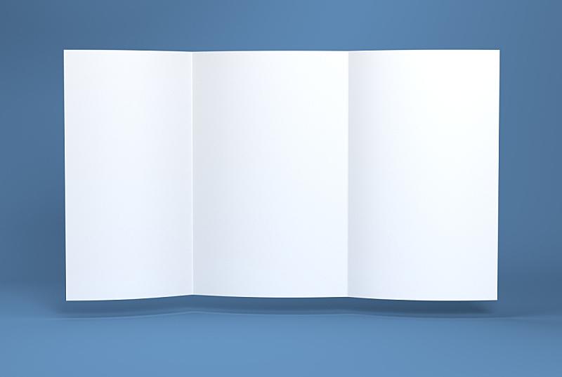 小册子,纸,白色,空白的,折叠的,水平画幅,无人,纸板,文档,传单