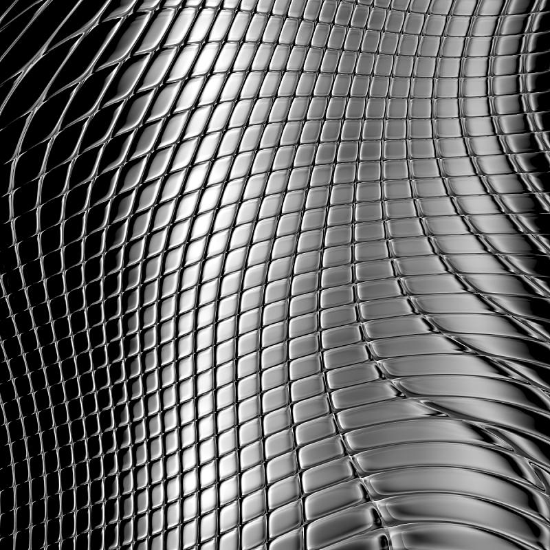 金属,银色,式样,格子图案,不锈钢,平视角,金属板,铬合金,灰色,技术
