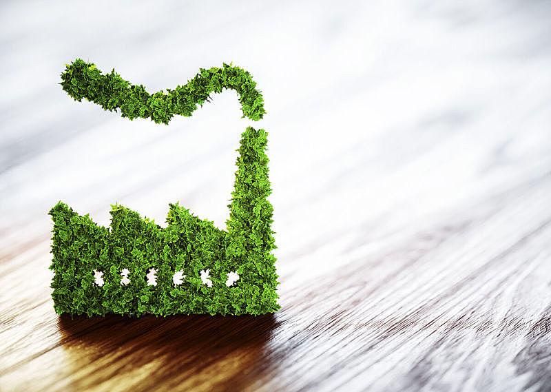 绘画插图,工业,概念,环境,三维图形,木制,背景聚焦,负责任的企业,可持续资源,温室气体