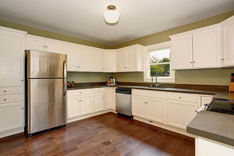 住宅房间,无人,厨房,极简构图,房屋,古典式,白色,窗户,水平画幅,吧椅