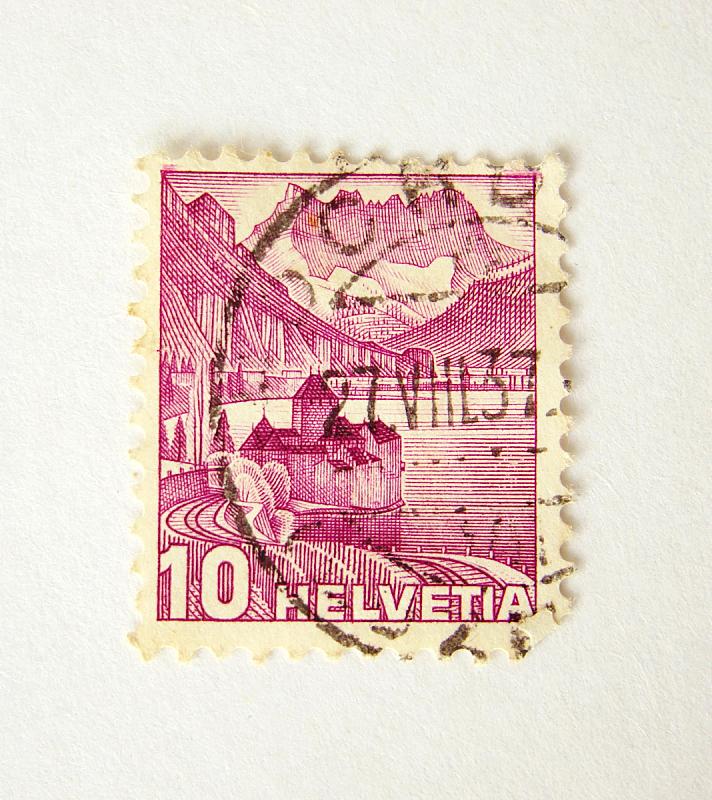 瑞士,垂直画幅,地形,无人,邮局,欧洲,古老的,古典式,邮戳