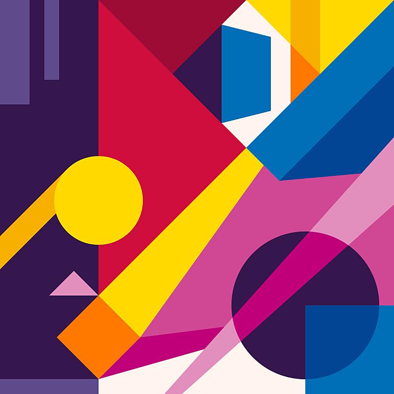 现代,背景,几何形状,抽象,数字6,绘画插图,贺卡,纹理效果,纺织品,古典式