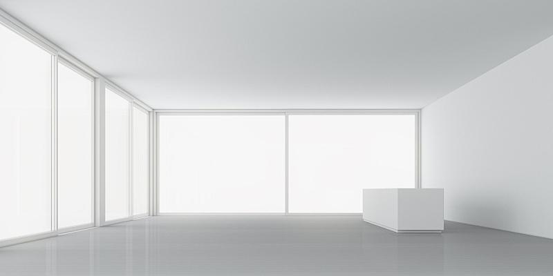 白色,三维图形,建筑,室内,住宅房间,柏林墙,运曲小管,拉凡他那石拱,设计,照亮