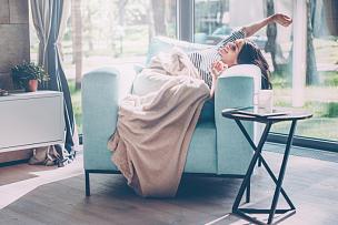 早晨,非凡的,问号,毯子,别墅,假日别墅,住宅内部,快乐,舒服,椅子