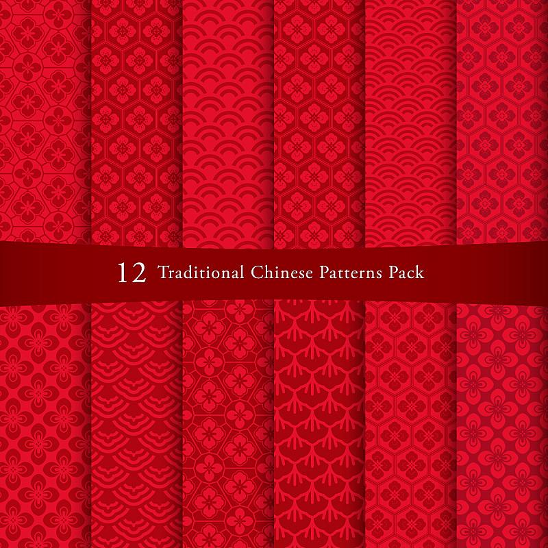 式样,动物的鳞,马来西亚,春节,花纹,传统,长方形,纸制品,四方连续纹样,线条画