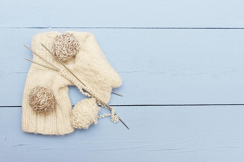 留白,线,热,羊毛,长袜,视角,式样,美,针织,水平画幅