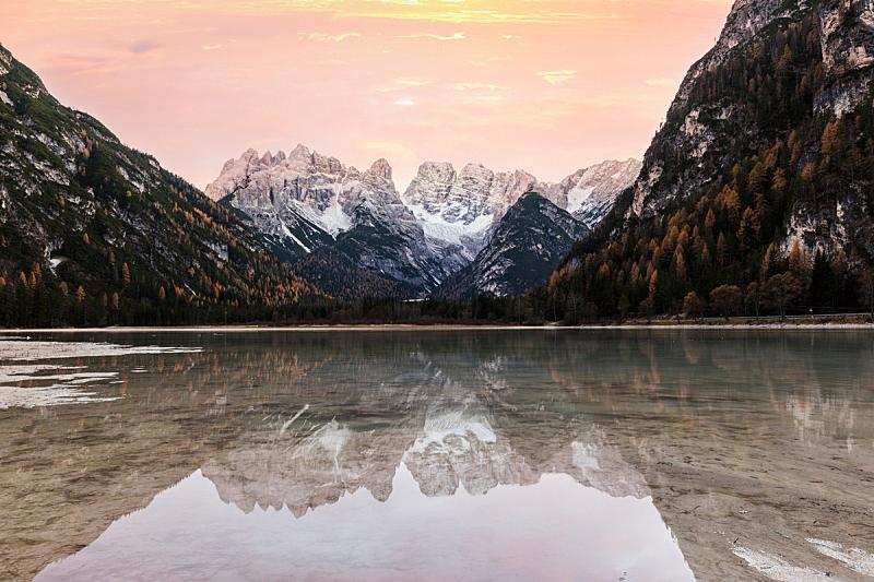 自然,欧洲,意大利,阿尔卑斯山脉,多洛米蒂山脉,地形,色彩鲜艳,苏打,自然美,湖