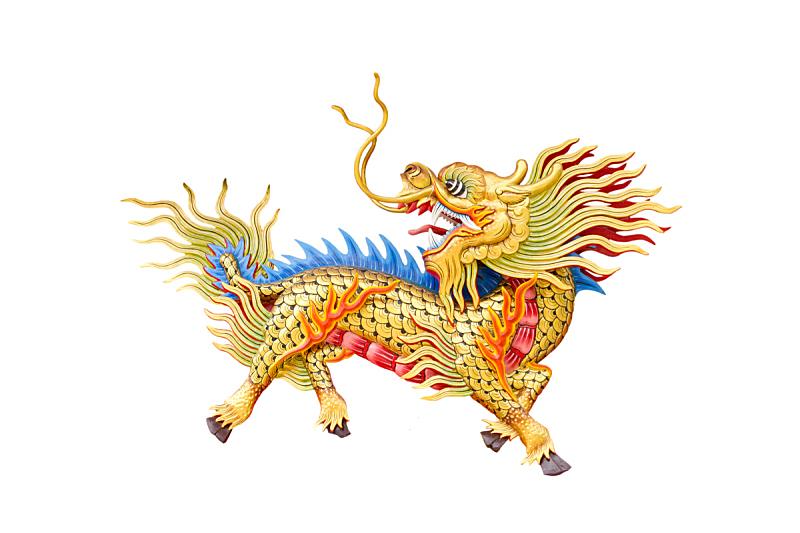 dragon-head unicorn on white background.