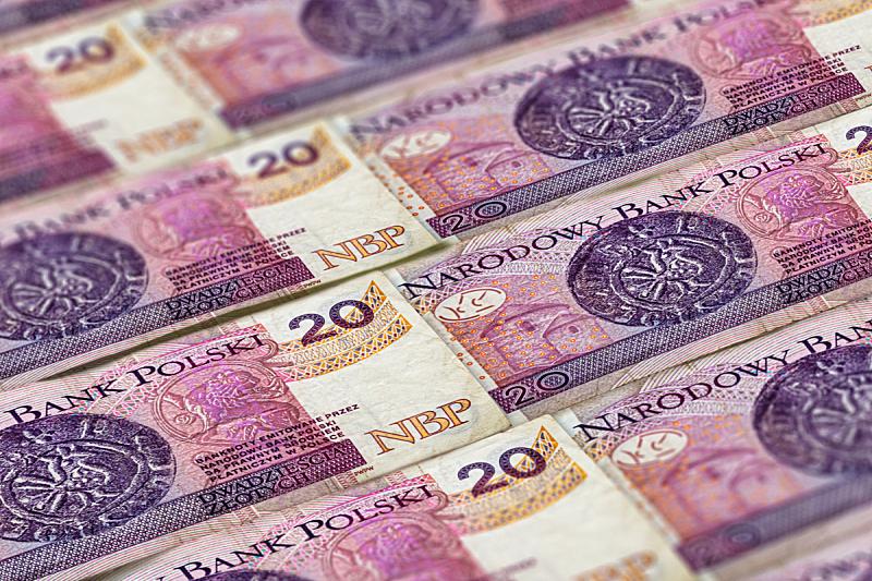 背景,特写,波兰,波兰兹罗提,数字20,纸,式样,商务,金融,银行业