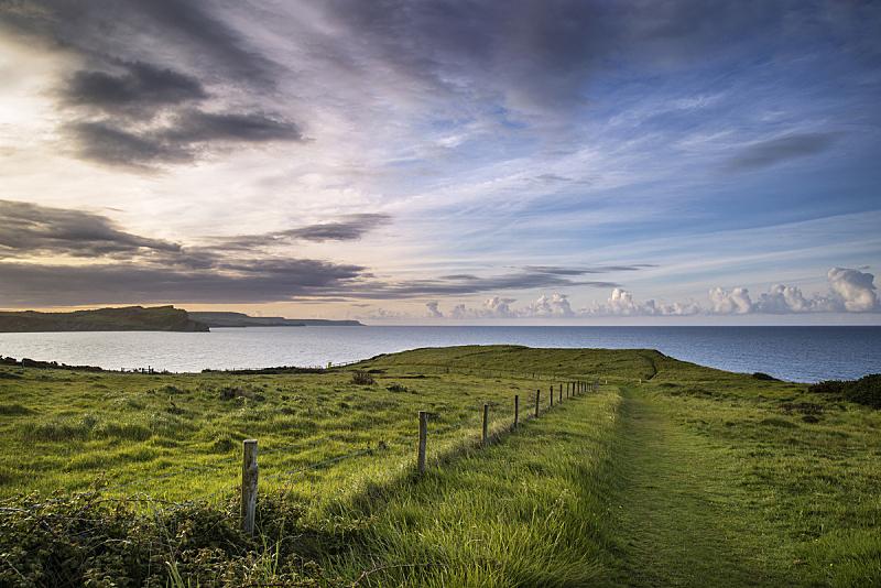 黎明,地形,夏天,自然美,海湾,在上面,早晨,活力,自然,水平画幅