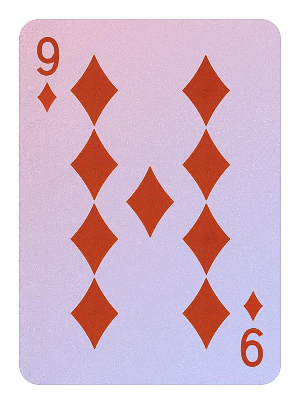 进行中,纸牌,盾牌卡,垂直画幅,休闲活动,钻石形,钻石,风险,背景分离,数字9