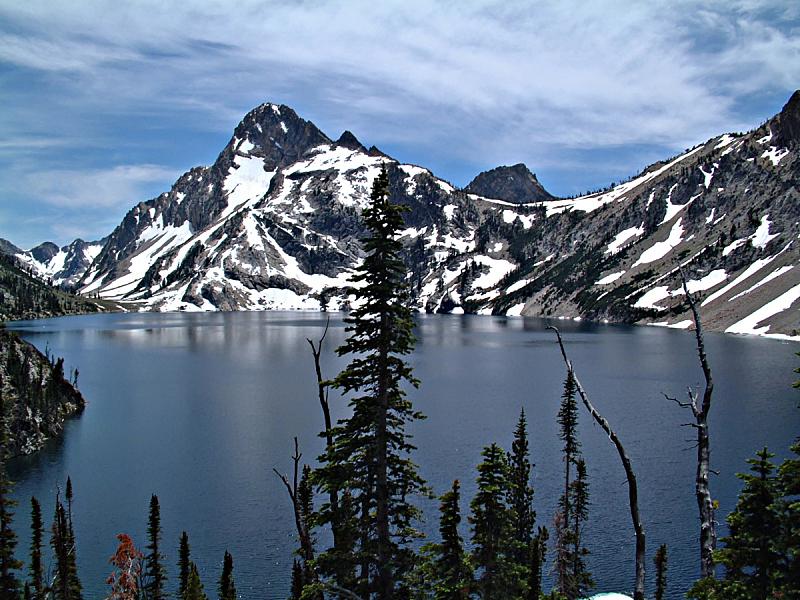 湖,锯齿山脉,数字6,水,天空,水平画幅,雪,无人,户外,干净