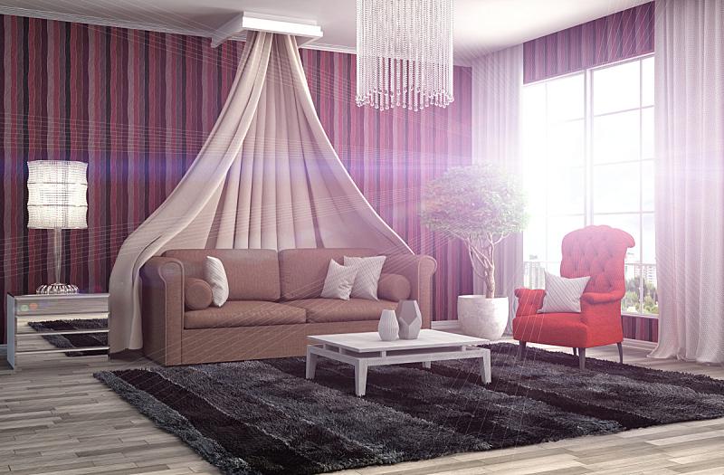 沙发,室内,三维图形,绘画插图,座位,水平画幅,无人,装饰物,家具,舒服