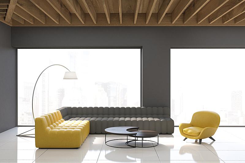窗户,灰色,全景,起居室,复式楼,办公室,艺术,水平画幅,墙,无人
