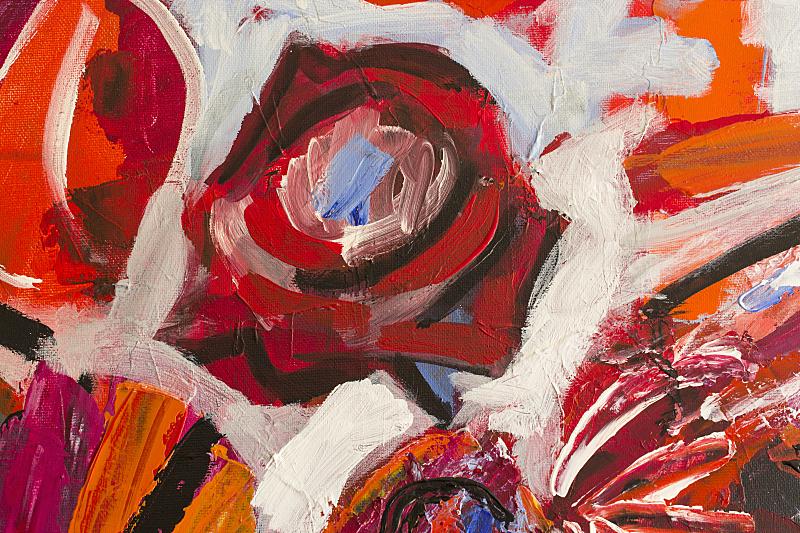 背景,大特写,接力赛,印象主义,绘画艺术品,艺术,表现主义,橙色,玫瑰