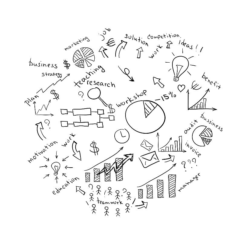 电灯泡,图表,商务,草图,大于号,社会保险,商务策略,美元符号,符号,经理